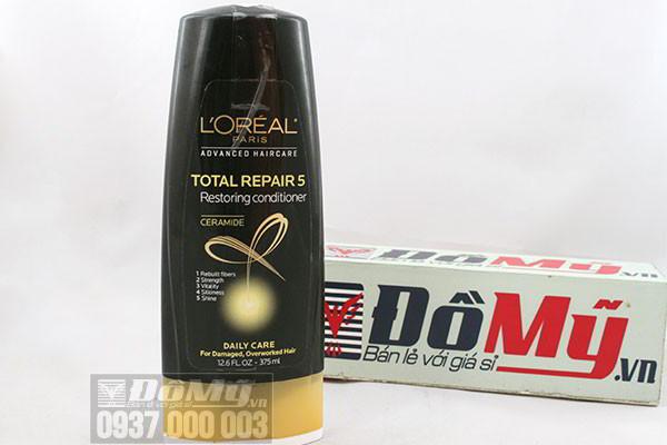 Dầu xả  Loreal Paris Total Repair 5 của Mỹ phục hồi tóc hư tổn 375 ml