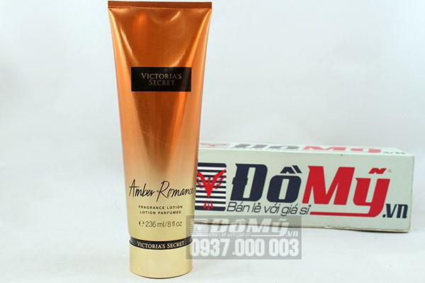 Dưỡng thể nước hoa  Victoria Secret Amber Romance Frangrance Lotion  236 ml của Mỹ