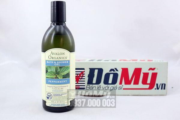 Gel tắm Avalon Organics Peppermint của Mỹ hương bạc hà loại 355ml