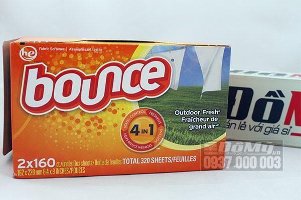 Giấy thơm quần áo Bounce 4 in 1 - 320 tờ của Canada