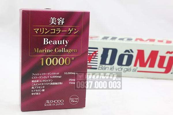 Bột uống Beauty Marine Collagen hộp 15 gói của Nhật Bản