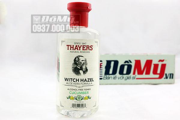 Nước hoa hồng Thayers Witch Hazel Aloe Vera Formula Alcohol Free Toner 355ml của Mỹ