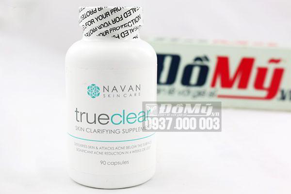 Viên uống hỗ trợ điều trị và ngăn ngừa mụn Navan Skin Care TrueClear lọ 90 viên của Mỹ