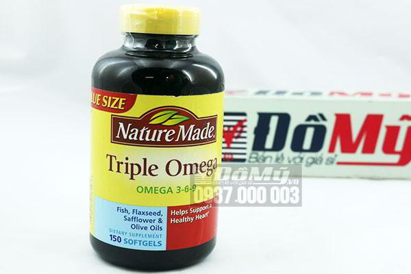 Viên uống bổ sung Triple Omega 3-6-9 Nature Made 150 viên của Mỹ