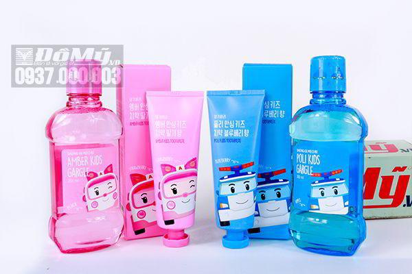 Bộ kem đánh răng và nước súc miệng cho trẻ em Daeng Gi Meo Ri của Hàn Quốc