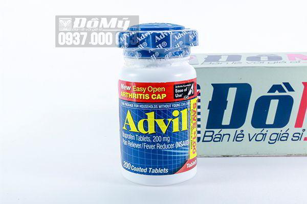 Viên uống giảm đau xương khớp Advil 200 của Mỹ