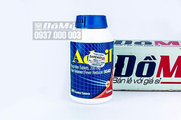 Viên nén Advil 200mg giảm đau 300 viên của Mỹ
