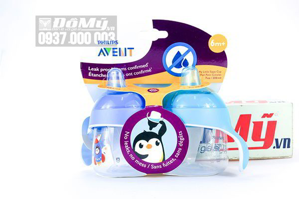 Bình tập uống nước cho bé từ 6 tháng tuổi Philips Avent hình chim cánh cụt 200ml