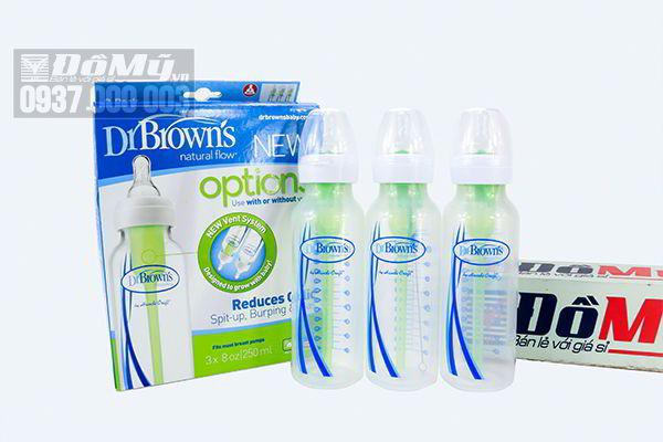 Set 3 bình sữa Dr.Brow's 3 x 250ml của Mỹ