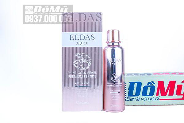 Tế bào gốc Eldas Aura Shine Gold Pearl Premium Peptide chai 100ml của Hàn Quốc