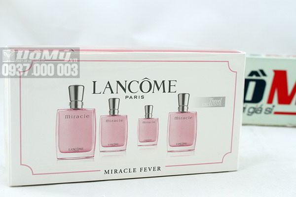 Bộ 4 chai nước hoa mini nữ Lancome Miracle Fever 5 ml của Pháp