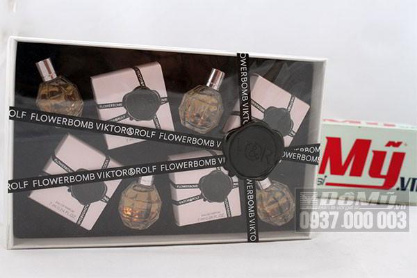 Bộ sản phẩm 4 nước hoa FlowerBomb by Viktor & Rolf của Hà Lan