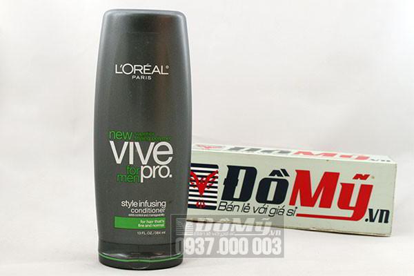 Dầu xả giữ kiểu tóc cao cấp của Mỹ Loreal New Vive Pro for men loại 384ml