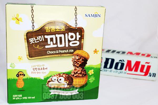 Bánh Samjin Chocolate và hạnh nhân 360g của Hàn Quốc