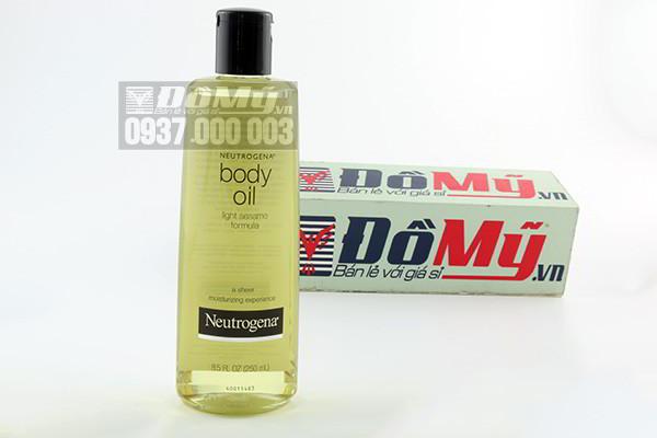 Dầu dưỡng thể Neutrogena Body Oil Light Sesame Formula 250ml của Mỹ