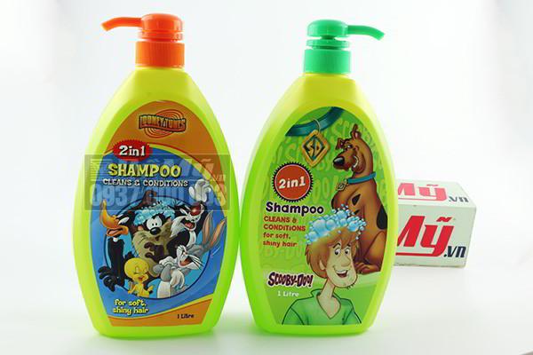 Dầu gội và xả 2 trong 1 Shampoo hình nhân vật hoạt hình 1 lít của Mỹ