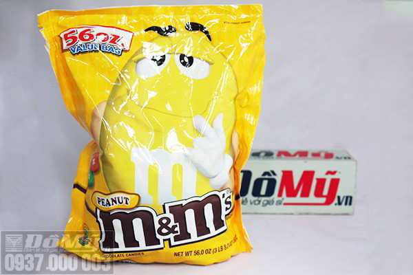 Kẹo chocolate M&M's Peanut gói 1587,6 g của Mỹ
