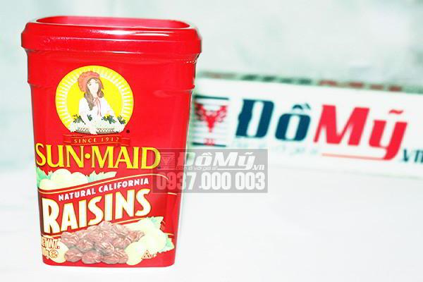 Nho sấy khô Sun-Maid Natural California Raisins 500g của Mỹ