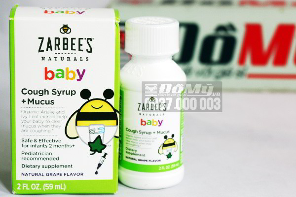 Siro trị ho Zarbee's Naturals Baby Cough Syrup 59ml của Mỹ