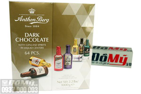 Socola nhân rượu Anthon Berg Chocolate loại 64 chai của Đan Mạch