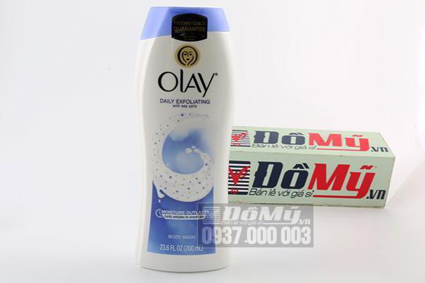 Sữa tắm Olay Daily Exfoliating 700ml của Mỹ