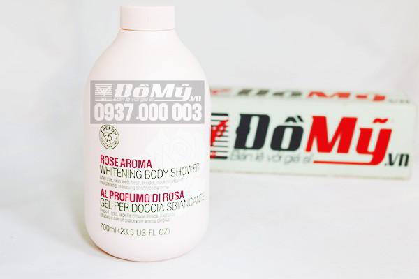 Sữa tắm dưỡng trắng Theron Whitening Body Shower hương hoa hồng 700ml của Hàn Quốc