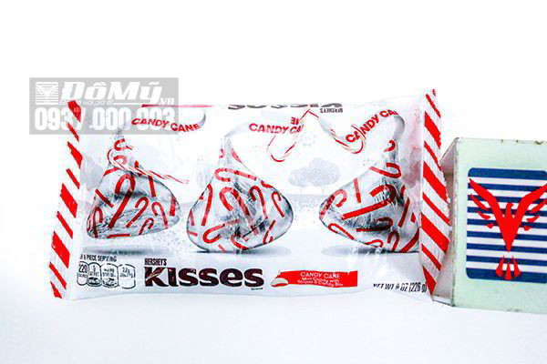 Kẹo Chocolate Kisses Candy Cane Noel 226g của Mỹ