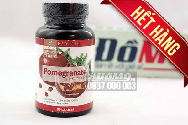 Viên uống chiết xuất từ hạt lựu Neocell Pomegranate From The Seed 1000mg x 90 Viên của Mỹ