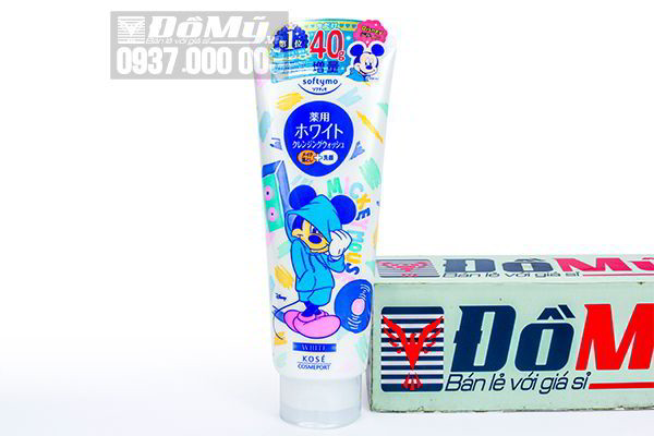 Sữa rửa mặt Kose Cosmeport Softymo White 190g của Nhật Bản