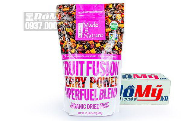 Trái cây hữu cơ sấy khô Fruit Fusion Berry Power 680g của Mỹ