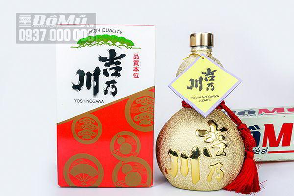 Rượu hồ lô Sake Yoshinogawa 720ml của Nhật Bản
