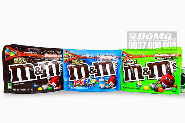 Kẹo chocolate M&M tổng hợp nhiều màu của Mỹ