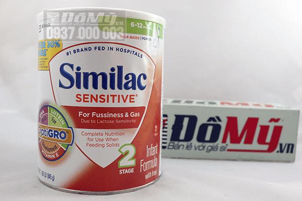 Sữa Similac Sensitive chống đầy hơi và nôn trớ 845g - Mỹ, cho trẻ từ 6 – 12 tháng