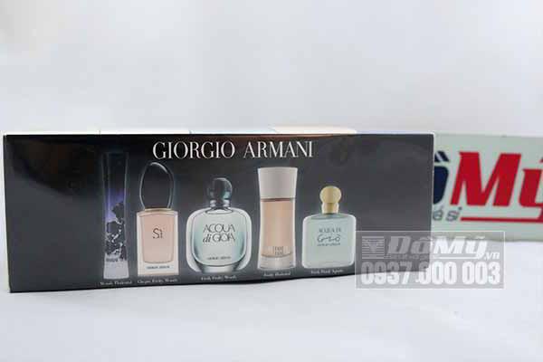 Bộ 5 chai nước hoa nữ mini Giorgio Armani