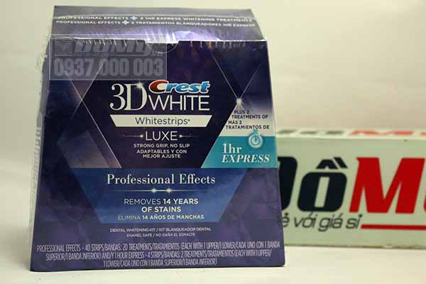 Miếng dán trắng răng của Mỹ Crest 3D White Professional Effects