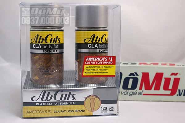 Viên uống giảm cân AbCuts CLA Belly Fat Formula bộ 2 hộp/120 viên/hộp của Mỹ