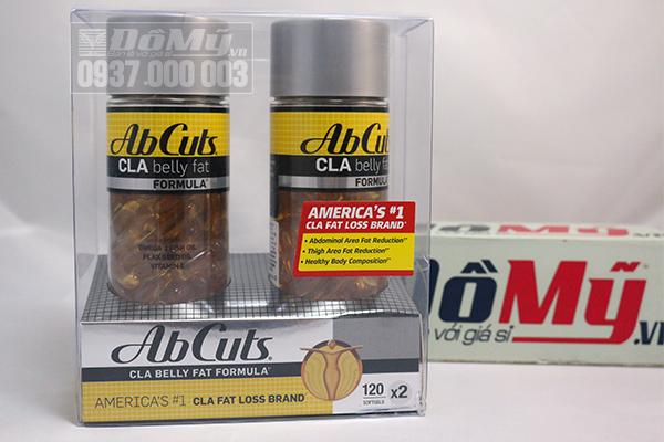 Thuốc giảm cân -AbCuts CLA Belly Fat Formula 2 hộp/120 viên/hộp