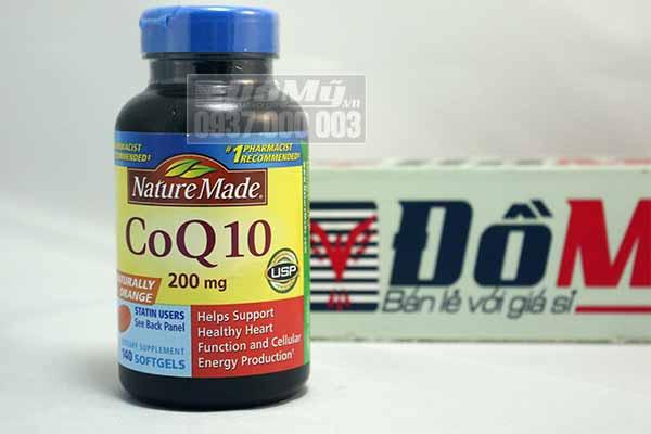 Viên uống hỗ trợ và điều trị tim mạch Nature Made® CoQ10 200mg của Mỹ 140 viên