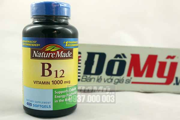 Vitamin Nature Made B12 (1,000 mcg) 400 viên