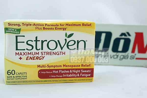 Estroven Maximum strength - cân bằng nội tiết cho phụ nữ thời kỳ tiền mãn kinh - hộp 60 viên