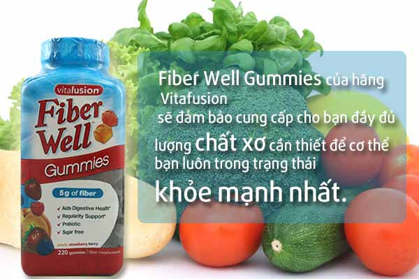 Fiber Well Gummies 220 viên - Bổ sung chất xơ cho cơ thể khỏe mạnh
