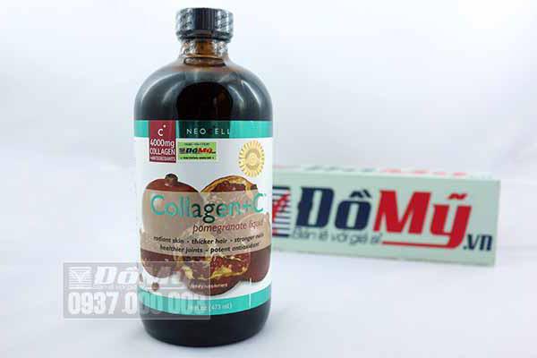 Nước uống Collagen Neocell lựu + C4000mg 473ml của Mỹ
