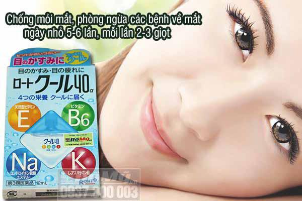 Thuốc nhỏ mắt Rohto Vita 40 Nhật Bản2