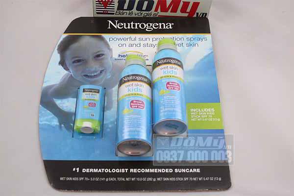 Kem chống nắng Neutrogena Wet Skin Kids SPF 70 của Mỹ 141g