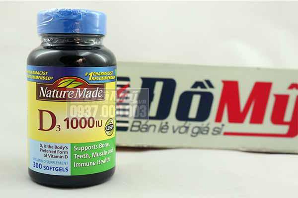 Viên bổ sung Vitamin D3 1000 IU Nature Made 300 viên