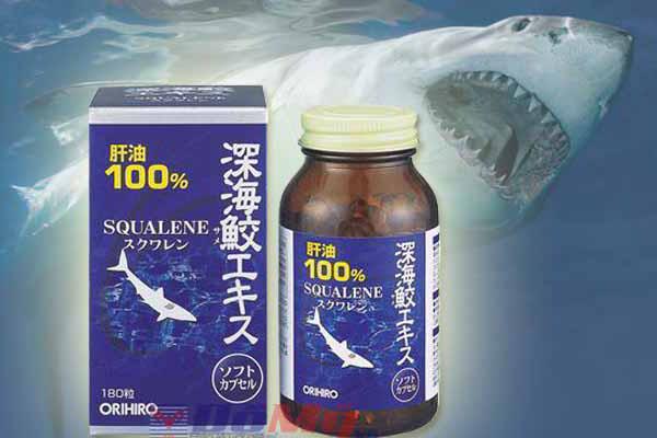 Sụn vi cá mập Squalene ORIHIRO 180 viên của Nhật