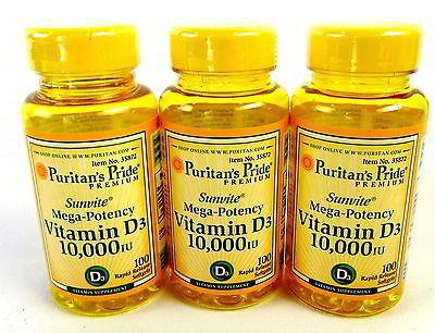 Puritans Pride Vitamin D3 5000 IU 100 viên