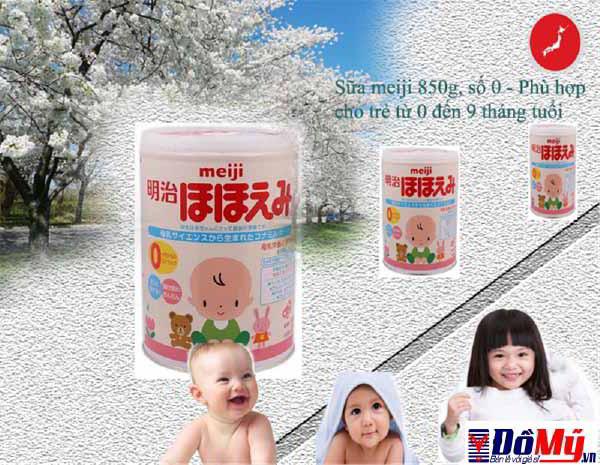 Sữa meiji số 0 hộp 850g cho bé từ 0 -9 tháng - Nhập khẩu từ Nhật Bản