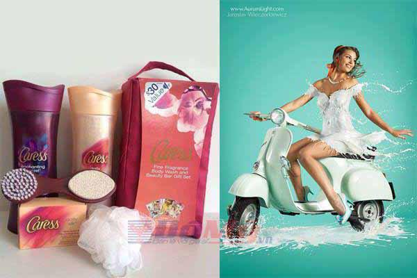Bộ quà tặng sữa tắm Caress - Mỹ