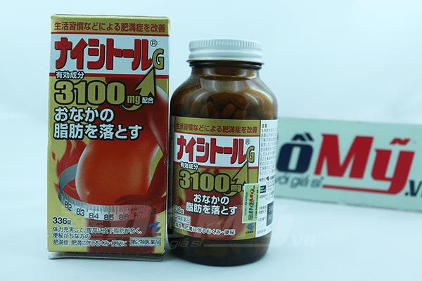 Viên giảm mỡ bụng Naishitoru G 3100 Kobayashi 336 viên -Nhật